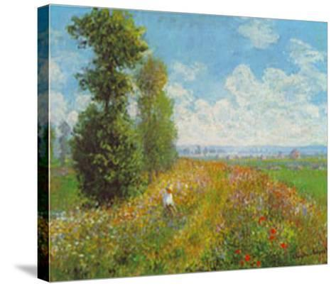 Meadow With Poplars-Claude Monet-Stretched Canvas Print