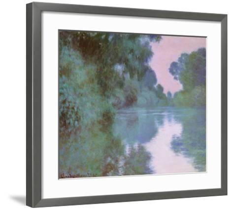 Morning On Seine-Claude Monet-Framed Art Print