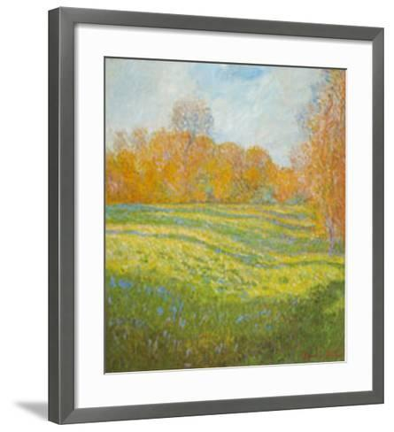 Meadow At Giverny-Claude Monet-Framed Art Print