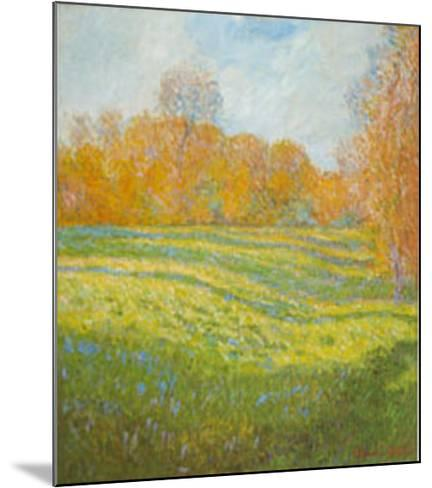 Meadow At Giverny-Claude Monet-Mounted Art Print