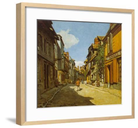 Rue De La Bavolle-Claude Monet-Framed Art Print