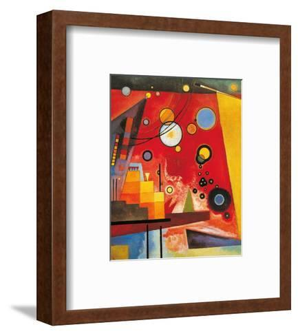 Heavy Red-Wassily Kandinsky-Framed Art Print
