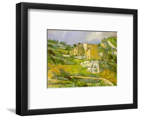 Houses at the Estaque-Paul C?zanne-Framed Art Print