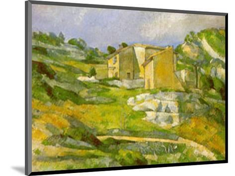 Houses at the Estaque-Paul C?zanne-Mounted Art Print