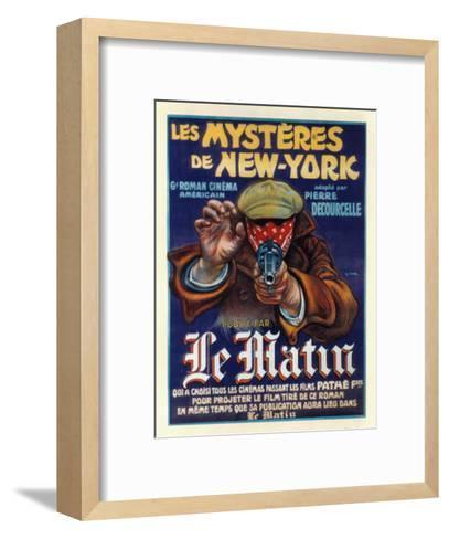 Les Mysteres de New York--Framed Art Print