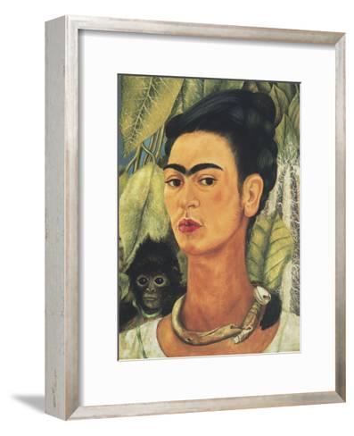 Self-Portrait with Monkey, 1938-Frida Kahlo-Framed Art Print