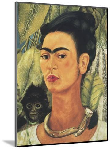 Self-Portrait with Monkey, 1938-Frida Kahlo-Mounted Art Print