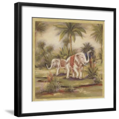 Elephants II--Framed Art Print