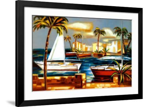 Bay Breeze IV-Elya de Chino-Framed Art Print