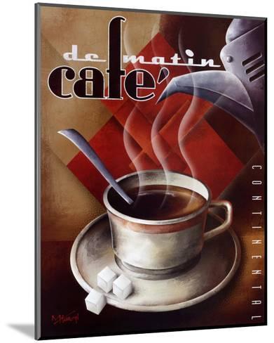Cafe de Matin-Michael L^ Kungl-Mounted Art Print