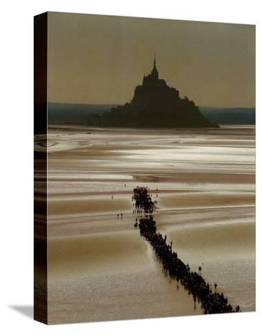 Mont St. Michel-Philip Plisson-Stretched Canvas Print