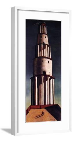 La Grande Torre-Giorgio De Chirico-Framed Art Print