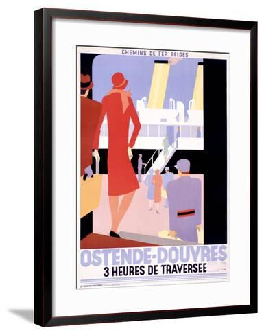 Ostende-Douvres-Leo Marfurt-Framed Art Print
