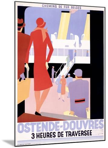 Ostende-Douvres-Leo Marfurt-Mounted Giclee Print