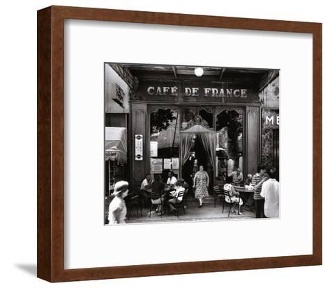 Caf? de France-Willy Ronis-Framed Art Print