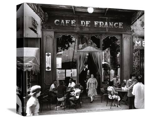 Caf? de France-Willy Ronis-Stretched Canvas Print