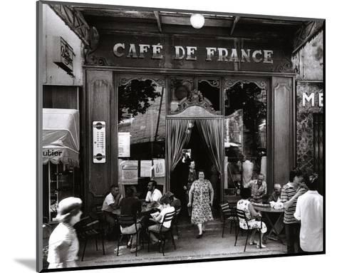 Caf? de France-Willy Ronis-Mounted Art Print