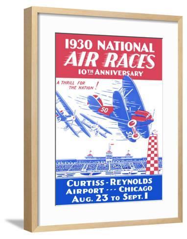 1930 National Air Races--Framed Art Print