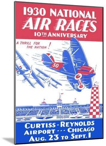 1930 National Air Races--Mounted Giclee Print
