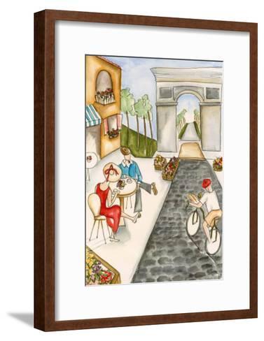 Parisian Holiday II-Jennifer Goldberger-Framed Art Print