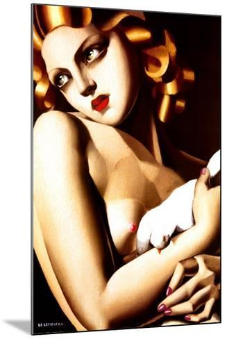 Woman with Dove-Tamara de Lempicka-Mounted Art Print