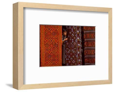 Parmi les Precieux Tissages-Olivier F?llmi-Framed Art Print