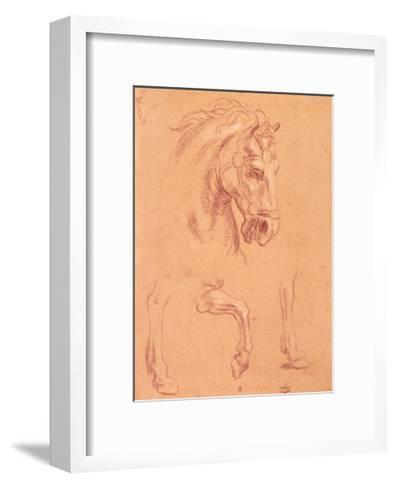 Horse Head-Pier Leone Ghezzi-Framed Art Print