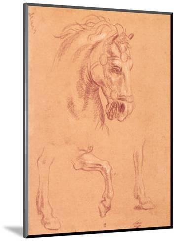 Horse Head-Pier Leone Ghezzi-Mounted Art Print