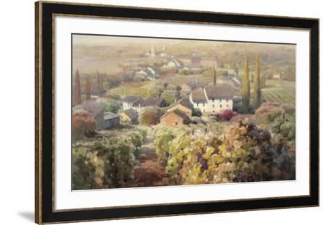 View From the Vineyard I-Roberto Lombardi-Framed Art Print