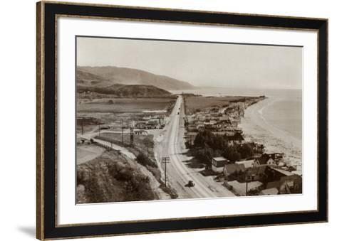 Malibu Beach Colony, 1944--Framed Art Print