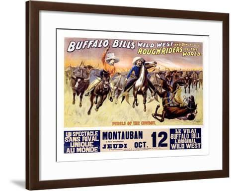 Perils of the Cowboy--Framed Art Print