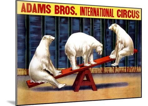 Adams Brothers Circus--Mounted Giclee Print