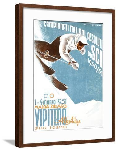 Campionati Italiani Assoluti di Sci--Framed Art Print