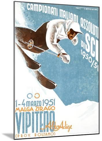 Campionati Italiani Assoluti di Sci--Mounted Giclee Print
