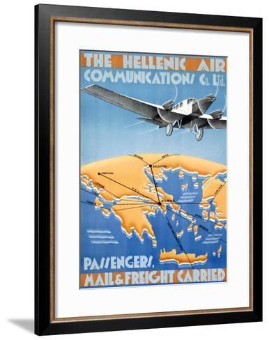 Hellenic Air-Lyda-Framed Art Print
