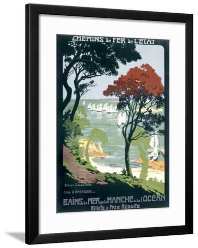 Cote d'Emeraude--Framed Art Print