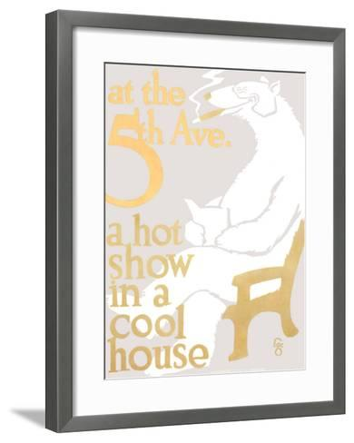 At the 5th Ave.--Framed Art Print