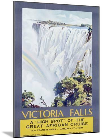 Cunard Line, Victoria Falls, 1931-W. G. Bevington-Mounted Giclee Print