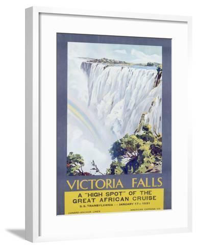 Cunard Line, Victoria Falls, 1931-W. G. Bevington-Framed Art Print