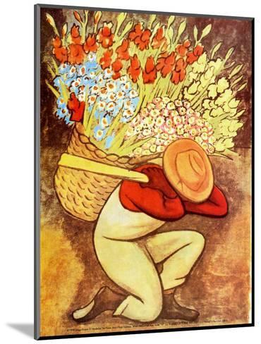 El Vendedora De Flores-Diego Rivera-Mounted Art Print