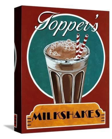Milkshakes-Catherine Jones-Stretched Canvas Print