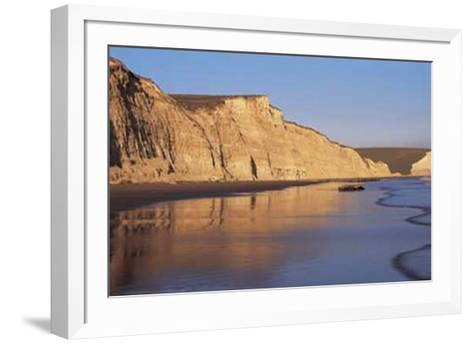 Pacific Sunset Reflections-Sadhna Press-Framed Art Print