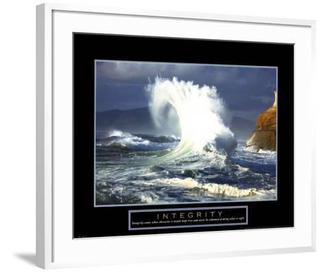 Integrity-Wave--Framed Art Print