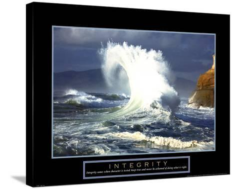Integrity-Wave--Stretched Canvas Print
