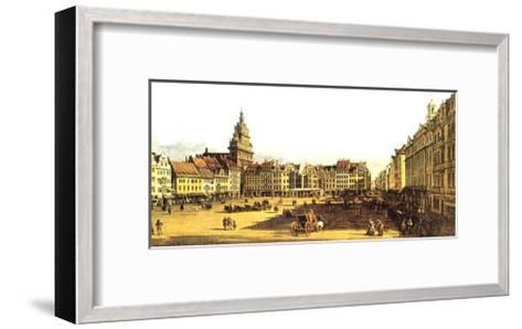 Dresden Altmarkt-Canaletto-Framed Art Print