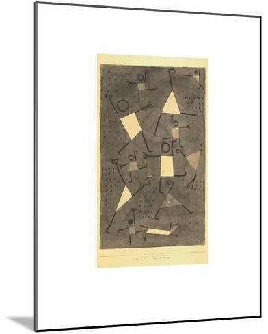 Tanze Vor Angst-Paul Klee-Mounted Art Print