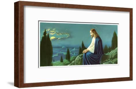 Christus am Olberg-Giovanni-Framed Art Print