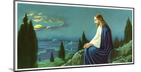 Christus am Olberg-Giovanni-Mounted Art Print
