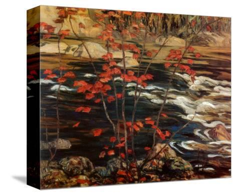 The Red Maple-A^ Y^ Jackson-Stretched Canvas Print