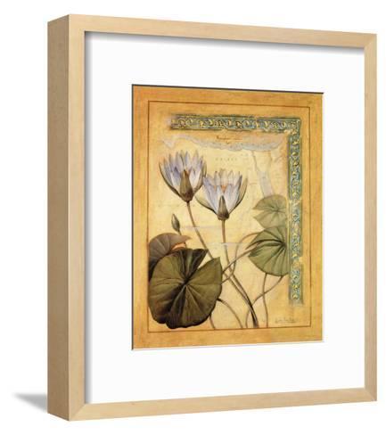 Flores Exoticas y Mapas II-Javier Fuentes-Framed Art Print